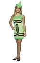 Screamin' Green Crayola Crayon Tank Dress Costume Teen