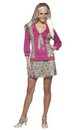 Jan Brady Bunch Hippie 70'S Tv Show Female Costume Dress Adult