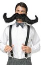 "30"" Super Stache Costume Moustache: Black"