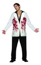Mens Bloody Bullets Halloween Scary White Jacket Blazer Adult