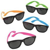 Neon Rubber Toy Sunglasses (Include 12 Units)