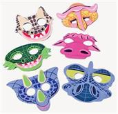Dino Foam Masks (Include 12 Units)