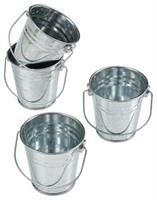 Mini Metal Buckets (Include 12 Units)