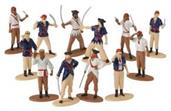 Pirate Figures (Include 12 Units)