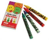 Mini Smile Crayons/4-Bx (Include 144 Units)