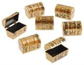 Mini Pirate Treasure Chests (Include 12 Units)