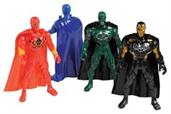 SUPERHERO FIGURES W/CAPE/4-PC (include 4 units)