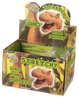 Stretchy Dino Hand Puppets/6-Pc (Include 6 Units)