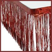 Metallic Table Skirt/Red (Include 1 Units)