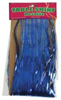 Metallic Table Skirt/Blue (Include 1 Units)