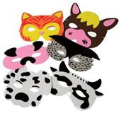 Farm Animal Foam Masks (Include 12 Units)