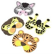 Wild Animal Foam Masks (Include 12 Units)