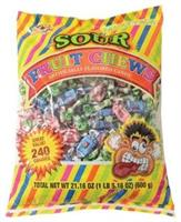 Sour Fruit Chews (Include 240 Units)