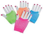 Short Neon Mesh Gloves/12-Pr (Include 12 Units)
