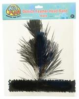 Ostrich Feather Head Band/Black (Include 1 Units)