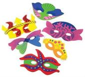 Mermaid Foam Masks (Include 12 Units)