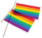 Rainbow Flags/4X6 Plastic (Include 12 Units)