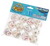 Glitter Balls W/Stars/35Mm (Include 12 Units)