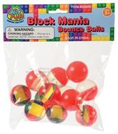 Block Mania Bounce Balls/32Mm (Include 12 Units)