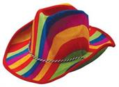 Rainbow Stripe Cowboy Hat (Include 1 Units)