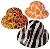 Animal Print Safari Hats (Include 12 Units)