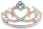 Rainbow Glitter Tiaras (Include 1 Units)