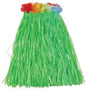 Child Hula Skirt W/Flowers/Green (Include 1 Units)