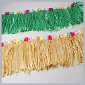 Fringe Decoration W/Flowers/Green (Include 1 Units)