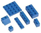 BLOCKS ASSORTMENT BLUE (include 1 units)