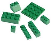 Blocks Assortment Green (Include 1 Units)