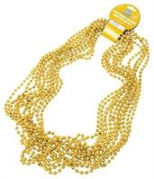 Metallic Bead Necklaces/Gold (Include 12 Units)