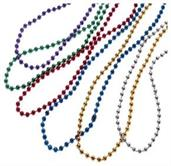 Metallic Bead Necklaces/4Mm (Include 144 Units)
