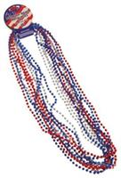 Metallic Bead Necklaces/R-W-B (Include 12 Units)