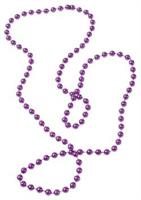 Metallic Bead Necklaces/Purple (Include 12 Units)