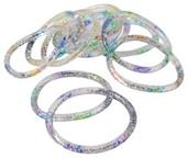 Rainbow Glitter Water Bracelets (Include 12 Units)