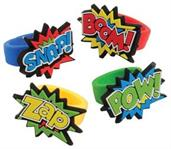 Superhero Rubber Rings (Include 12 Units)