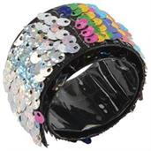 Rainbow Sequin Slap Bracelet/24-Pc (Include 24 Units)