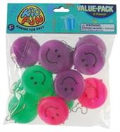 Smile Round Face Purse Keychains (Include 12 Units)