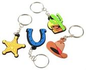 Western Rubber Keychains (Include 12 Units)