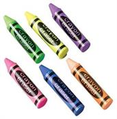 Crayon Shape Erasers/36-Bx (Include 36 Units)