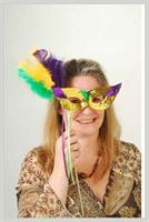 Mardi Gras Mask W/Stick (Include 1 Units)