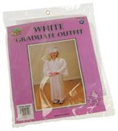 White Graduate Outfit (Include 1 Units) Costume