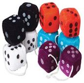 Small Plush Dice 1 1/2 Inch (Include 12 Units)
