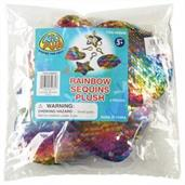 Rainbow Sequins Clip Plush/6-Pc (Include 6 Units)