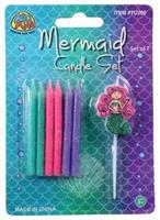 Mermaid Candle Set/7-Pc (Include 7 Units)