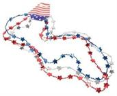 Patriotic Flat Star Beads/3-Pc Ht Pb (Include 3 Units)